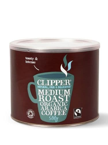 Clipper Organic Fairtrade Medium Roast Arabica Coffee